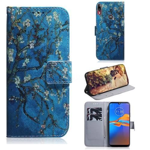 Apricot Tree PU Leather Wallet Case for Motorola Moto E6 Plus