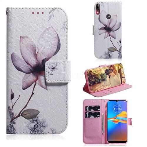 Magnolia Flower PU Leather Wallet Case for Motorola Moto E6 Plus