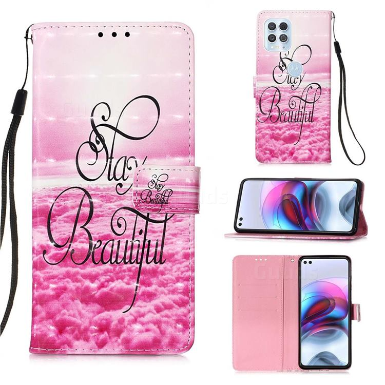 Beautiful 3D Painted Leather Wallet Case for Motorola Edge S