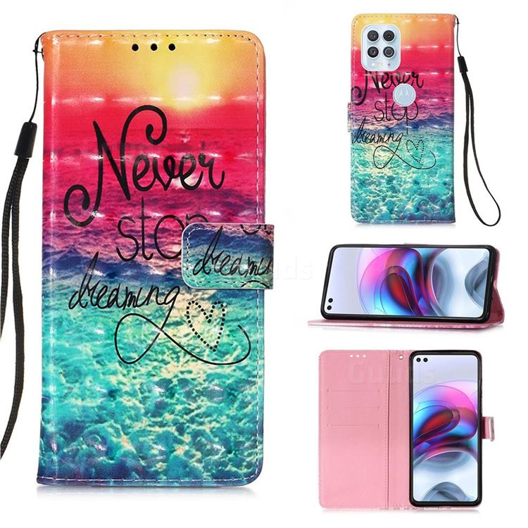 Colorful Dream Catcher 3D Painted Leather Wallet Case for Motorola Edge S
