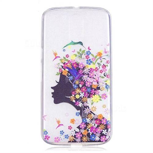 super popular 1dab9 987e5 Floral Bird Girl Super Clear Soft TPU Back Cover for Motorola Moto G4 G4  Plus