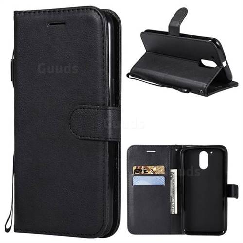 Retro Greek Classic Smooth PU Leather Wallet Phone Case for Motorola Moto G4 G4 Plus - Black