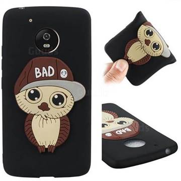 Bad Boy Owl Soft 3D Silicone Case for Motorola Moto G5 - Black