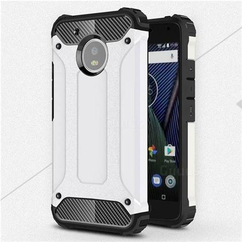 King Kong Armor Premium Shockproof Dual Layer Rugged Hard Cover for Motorola Moto G5 - White
