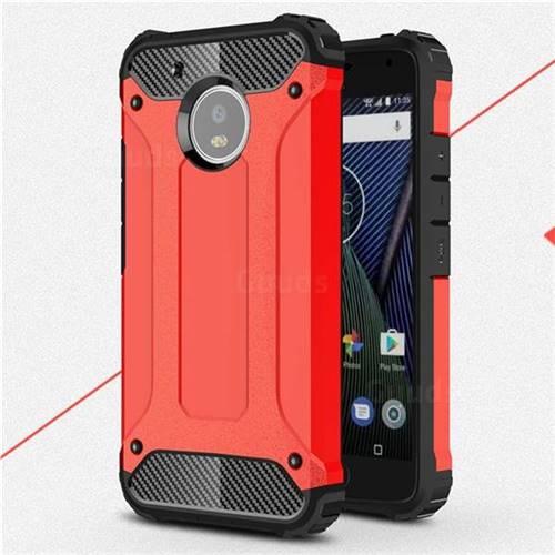 King Kong Armor Premium Shockproof Dual Layer Rugged Hard Cover for Motorola Moto G5 - Big Red