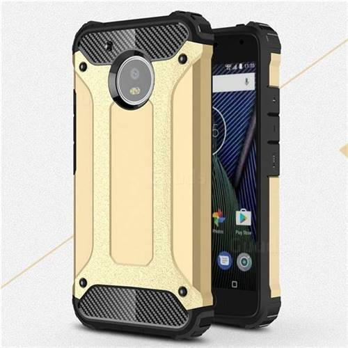King Kong Armor Premium Shockproof Dual Layer Rugged Hard Cover for Motorola Moto G5 - Champagne Gold