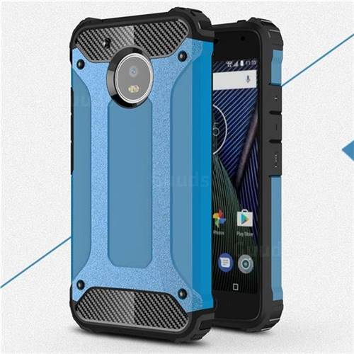 King Kong Armor Premium Shockproof Dual Layer Rugged Hard Cover for Motorola Moto G5 - Sky Blue