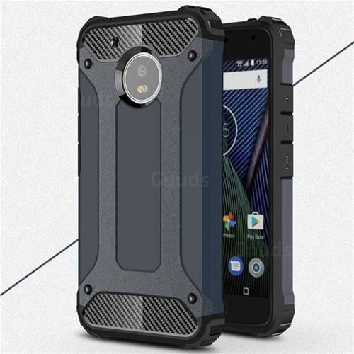 King Kong Armor Premium Shockproof Dual Layer Rugged Hard Cover for Motorola Moto G5 - Navy