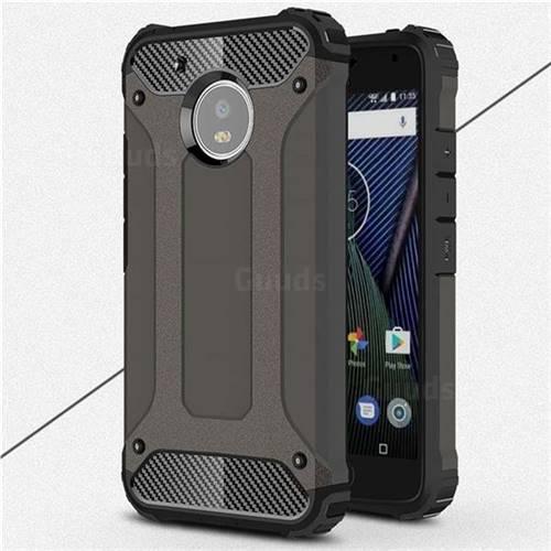King Kong Armor Premium Shockproof Dual Layer Rugged Hard Cover for Motorola Moto G5 - Bronze
