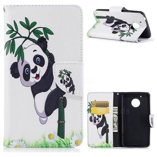 Bamboo Panda Leather Wallet Case for Motorola Moto G5