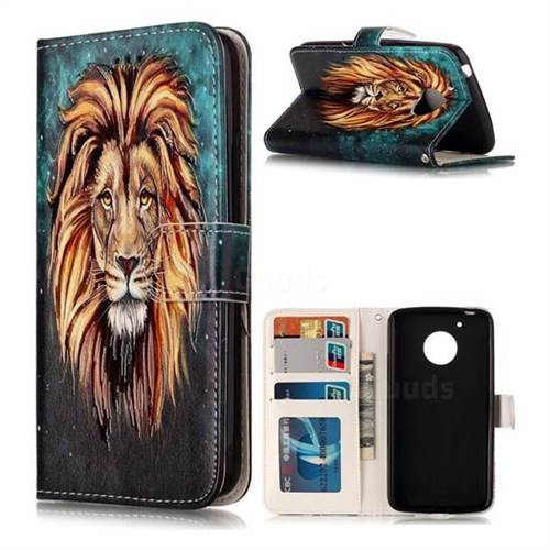 Ice Lion 3D Relief Oil PU Leather Wallet Case for Motorola Moto G5