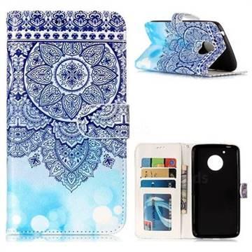 Totem Flower 3D Relief Oil PU Leather Wallet Case for Motorola Moto G5