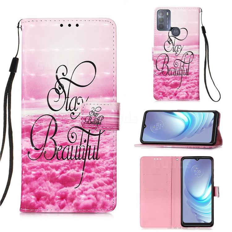 Beautiful 3D Painted Leather Wallet Case for Motorola Moto G50
