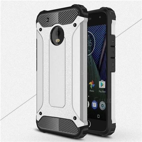 King Kong Armor Premium Shockproof Dual Layer Rugged Hard Cover for Motorola Moto G5 Plus - Technology Silver