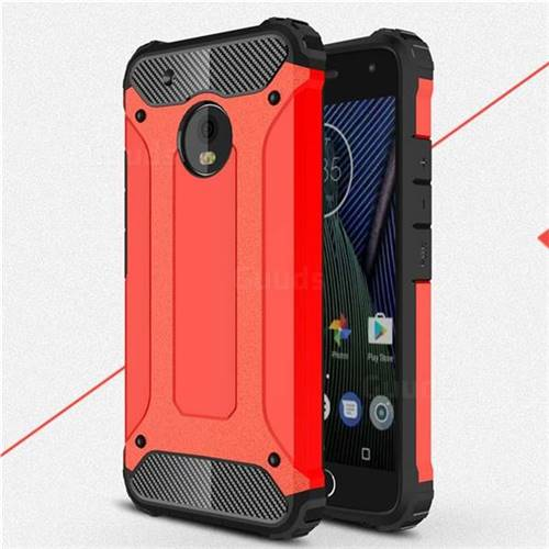 King Kong Armor Premium Shockproof Dual Layer Rugged Hard Cover for Motorola Moto G5 Plus - Big Red