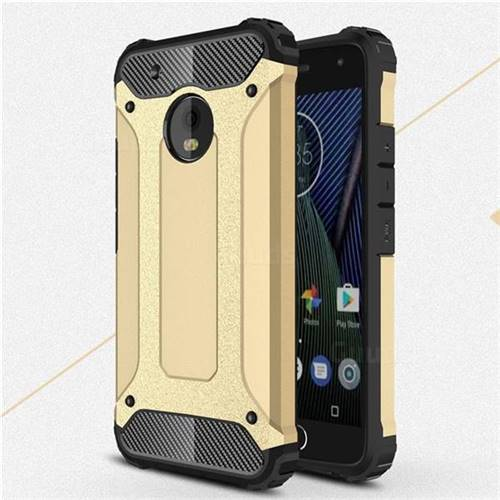 King Kong Armor Premium Shockproof Dual Layer Rugged Hard Cover for Motorola Moto G5 Plus - Champagne Gold