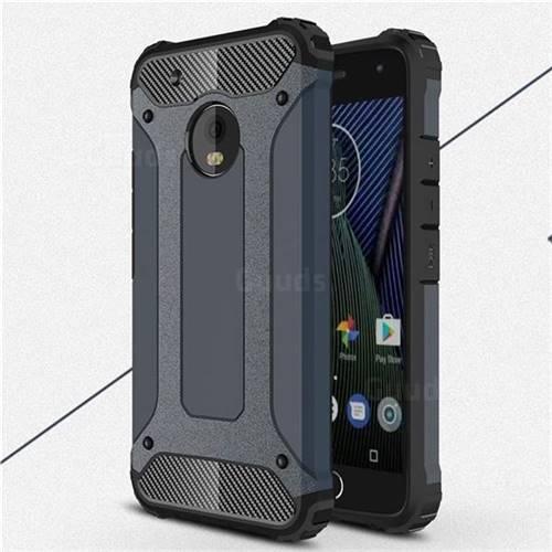 King Kong Armor Premium Shockproof Dual Layer Rugged Hard Cover for Motorola Moto G5 Plus - Navy