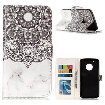 Marble Mandala 3D Relief Oil PU Leather Wallet Case for Motorola Moto G5 Plus