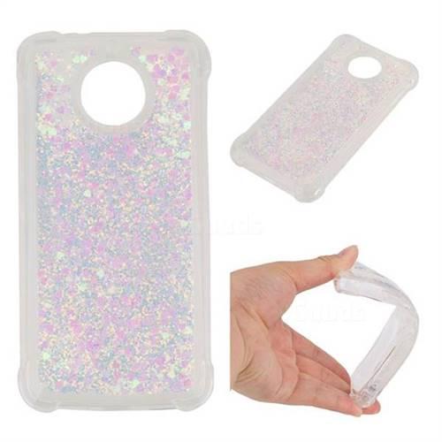 Dynamic Liquid Glitter Sand Quicksand Star TPU Case for Motorola Moto G5S - Pink