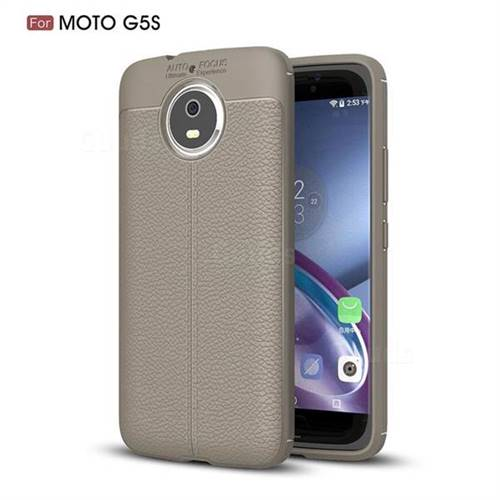 Luxury Auto Focus Litchi Texture Silicone TPU Back Cover for Motorola Moto G5S - Gray