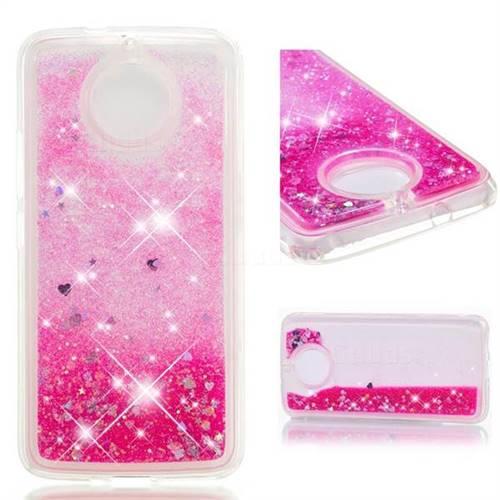 Dynamic Liquid Glitter Quicksand Sequins TPU Phone Case for Motorola Moto G5S - Rose