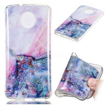 Purple Amber Soft TPU Marble Pattern Phone Case for Motorola Moto G5S