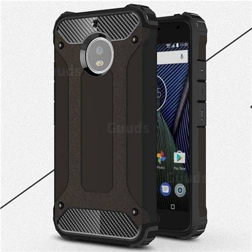 King Kong Armor Premium Shockproof Dual Layer Rugged Hard Cover for Motorola Moto G5S - Black Gold
