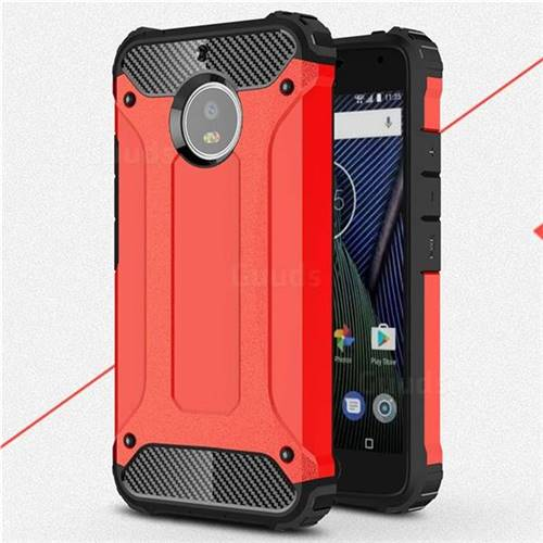 King Kong Armor Premium Shockproof Dual Layer Rugged Hard Cover for Motorola Moto G5S - Big Red