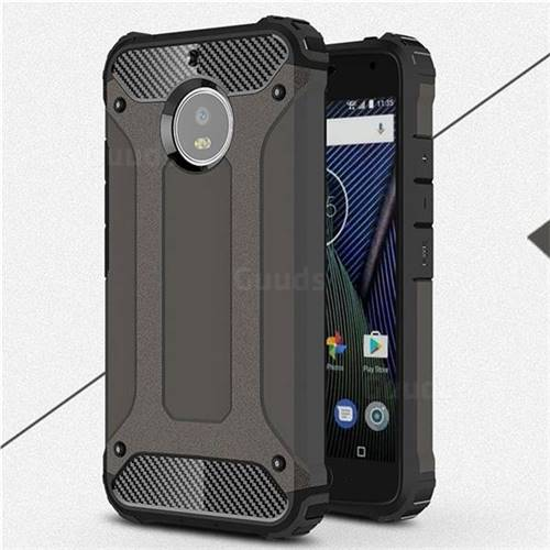 King Kong Armor Premium Shockproof Dual Layer Rugged Hard Cover for Motorola Moto G5S - Bronze