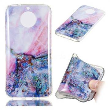 Purple Amber Soft TPU Marble Pattern Phone Case for Motorola Moto G5S Plus