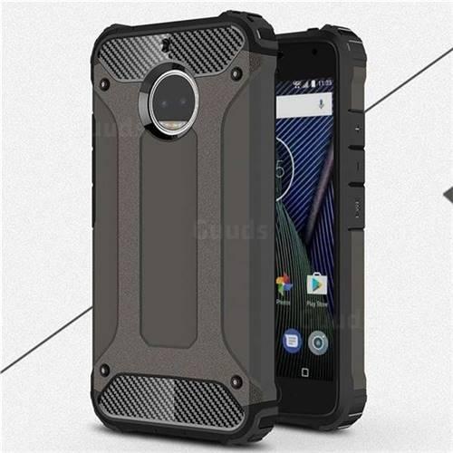 King Kong Armor Premium Shockproof Dual Layer Rugged Hard Cover for Motorola Moto G5S Plus - Bronze