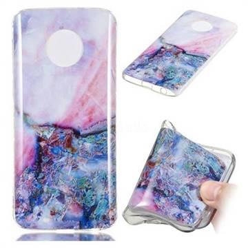 Purple Amber Soft TPU Marble Pattern Phone Case for Motorola Moto G6