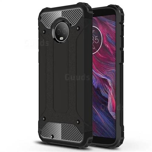 King Kong Armor Premium Shockproof Dual Layer Rugged Hard Cover for Motorola Moto G6 - Black Gold