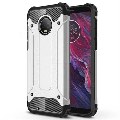 King Kong Armor Premium Shockproof Dual Layer Rugged Hard Cover for Motorola Moto G6 - Technology Silver