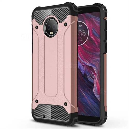 King Kong Armor Premium Shockproof Dual Layer Rugged Hard Cover for Motorola Moto G6 - Rose Gold