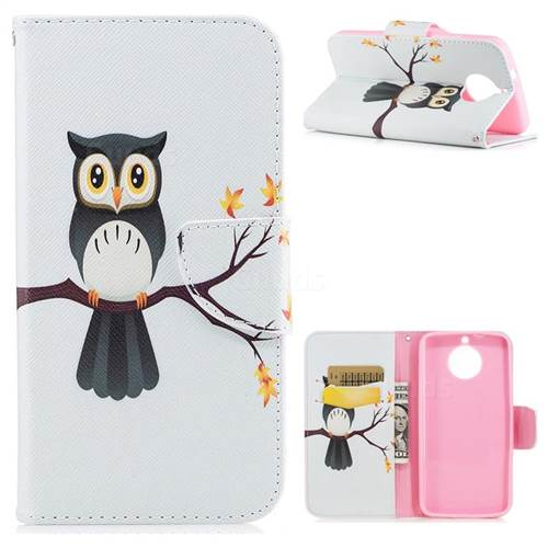Owl on Tree Leather Wallet Case for Motorola Moto G6