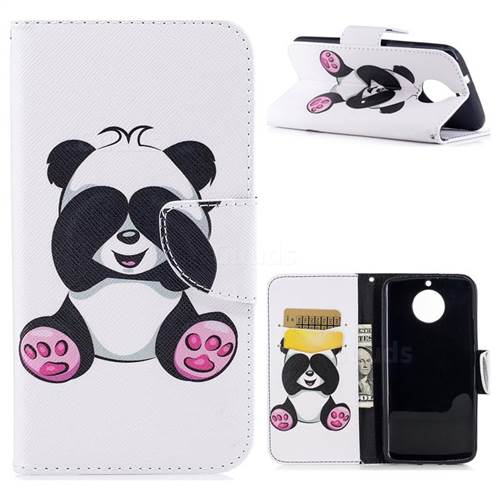Lovely Panda Leather Wallet Case for Motorola Moto G6