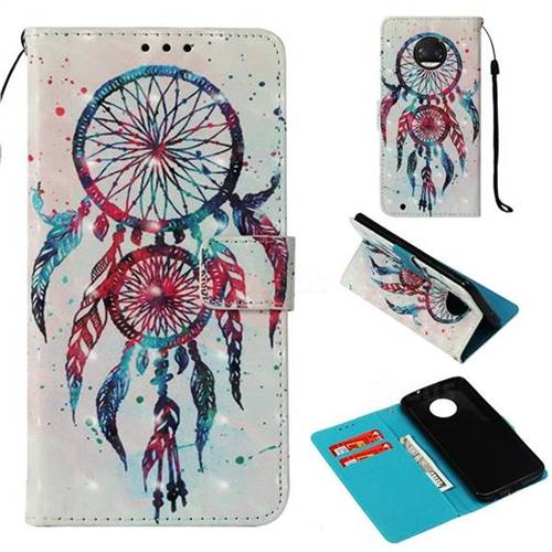 ColorDrops Wind Chimes 3D Painted Leather Wallet Case for Motorola Moto G6