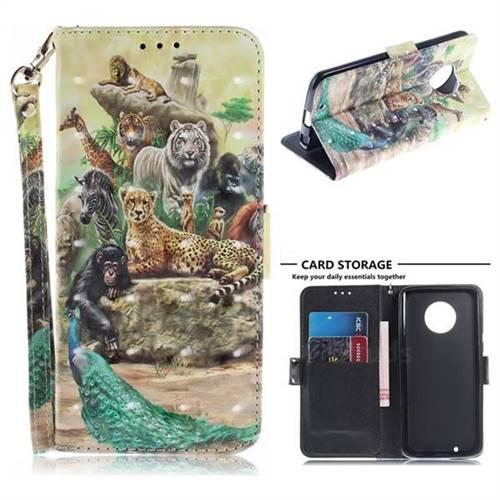 buy online b5450 ad571 Beast Zoo 3D Painted Leather Wallet Phone Case for Motorola Moto G6