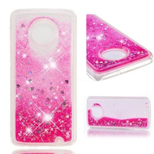 Dynamic Liquid Glitter Quicksand Sequins TPU Phone Case for Motorola Moto G6 Plus G6Plus - Rose