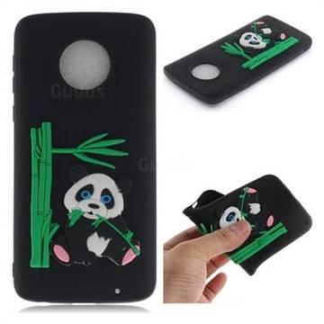 Panda Eating Bamboo Soft 3D Silicone Case for Motorola Moto G6 Plus G6Plus - Black