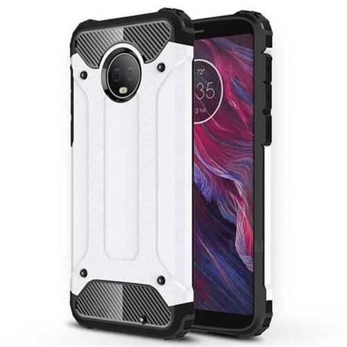 King Kong Armor Premium Shockproof Dual Layer Rugged Hard Cover for Motorola Moto G6 Plus G6Plus - White