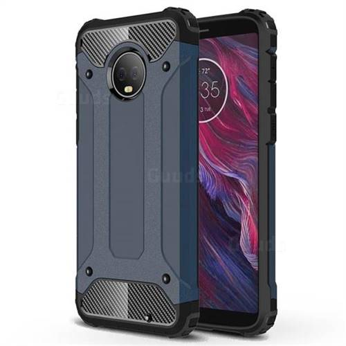 King Kong Armor Premium Shockproof Dual Layer Rugged Hard Cover for Motorola Moto G6 Plus G6Plus - Navy