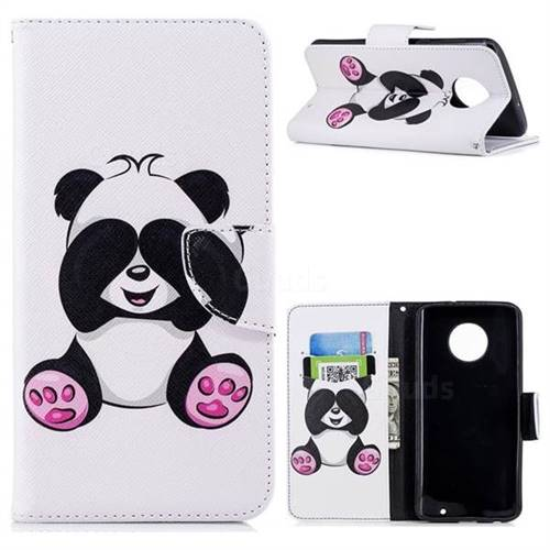 Lovely Panda Leather Wallet Case for Motorola Moto G6 Plus G6Plus