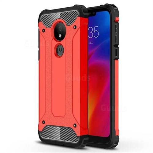 King Kong Armor Premium Shockproof Dual Layer Rugged Hard Cover for Motorola Moto G7 Power - Big Red
