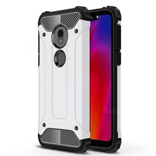 King Kong Armor Premium Shockproof Dual Layer Rugged Hard Cover for Motorola Moto G7 Play - White