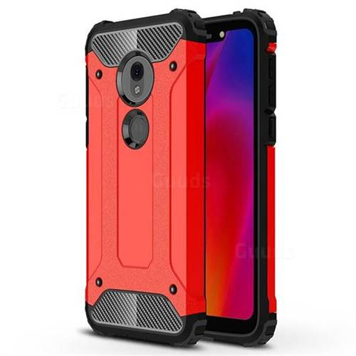King Kong Armor Premium Shockproof Dual Layer Rugged Hard Cover for Motorola Moto G7 Play - Big Red