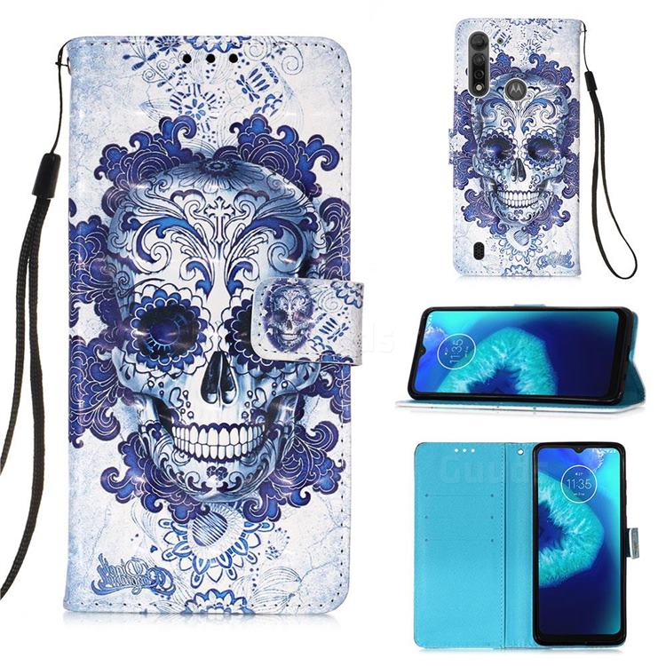 Cloud Kito 3D Painted Leather Wallet Case for Motorola Moto G8 Power Lite
