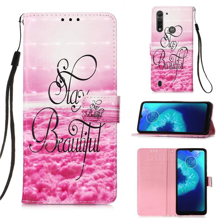 Beautiful 3D Painted Leather Wallet Case for Motorola Moto G8 Power Lite