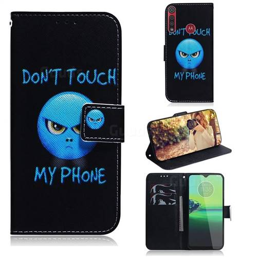 Not Touch My Phone PU Leather Wallet Case for Motorola Moto G8 Play